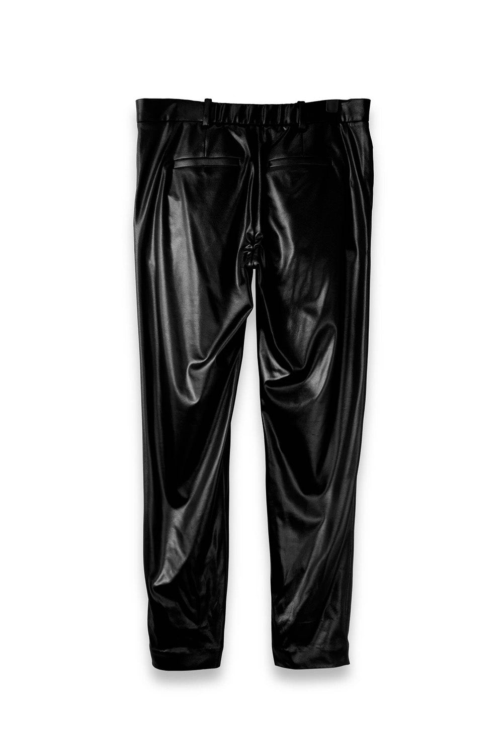 Casual Tailored Trousers in Dark Black