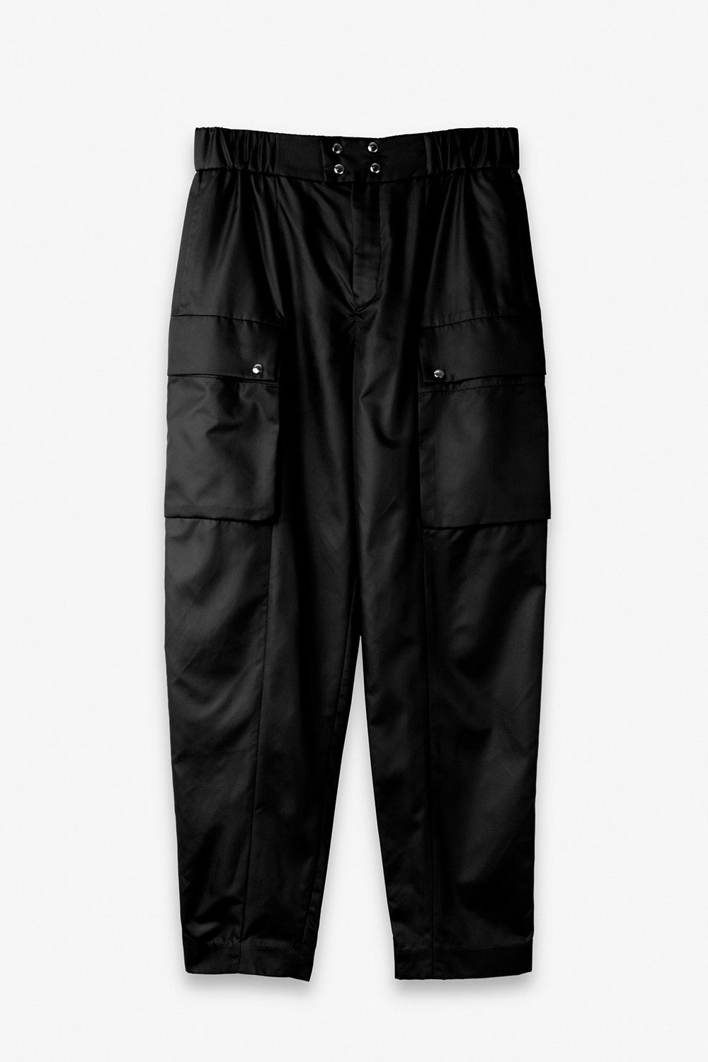 Cargo Trousers in Dark Black