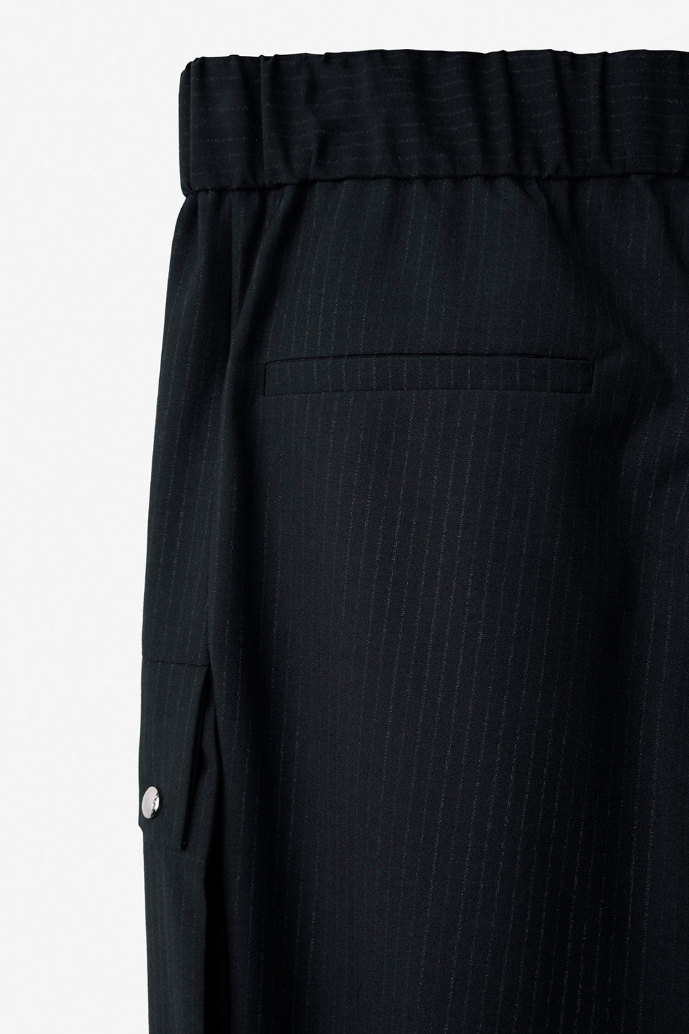Striped Pattern Cargo Trousers in Navy