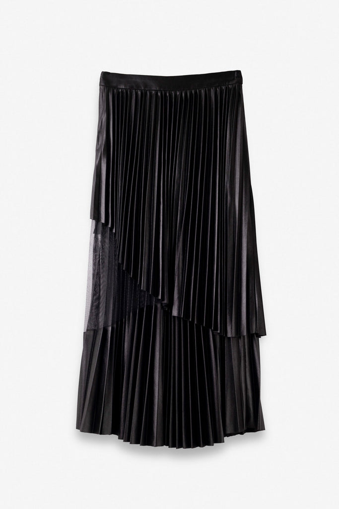 Double-Layered Pleated Skirt