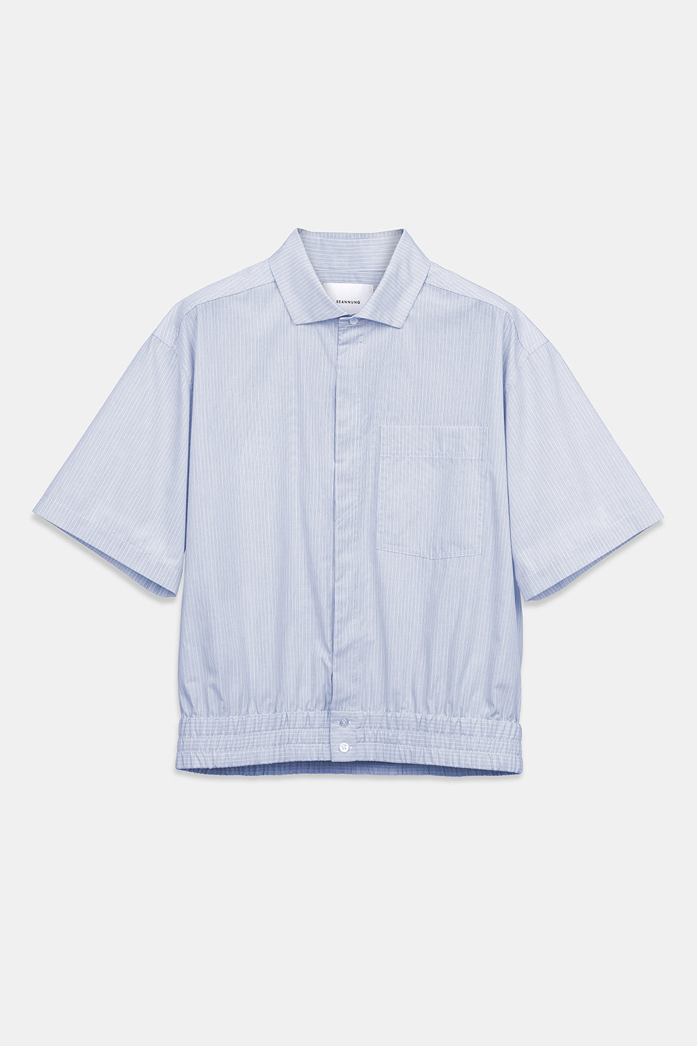 SEANNUNG - 條紋短袖襯衫 STRIPED PATTERN SHIRT WITH SHORT SLEEVE - Men