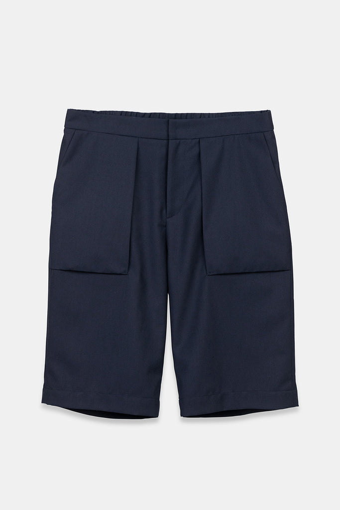 SEANNUNG -深藍色立體口袋短褲 BELLOWS POCKET SHORT IN NAVY - Men