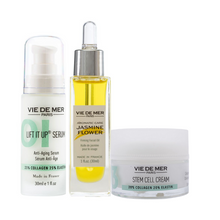 Lift It Up Anti-Aging Serum Stem Cell Cream and Jasmine Flower Firming Facial Oil