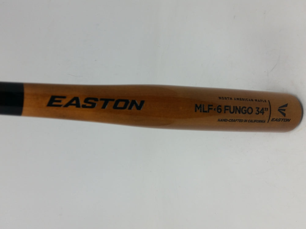 New Easton Fungo MLF-6 Maple Wood Baseball Bat Brown/Black Hand Crafted