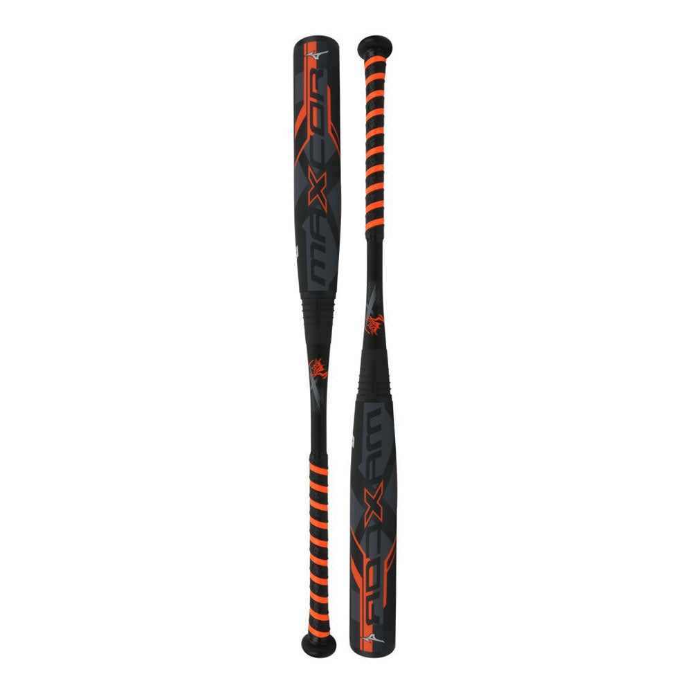 "New Mizuno Max Core 340350 BBCOR Baseball Bat 2 5/8"" Black/Orange/Silver"