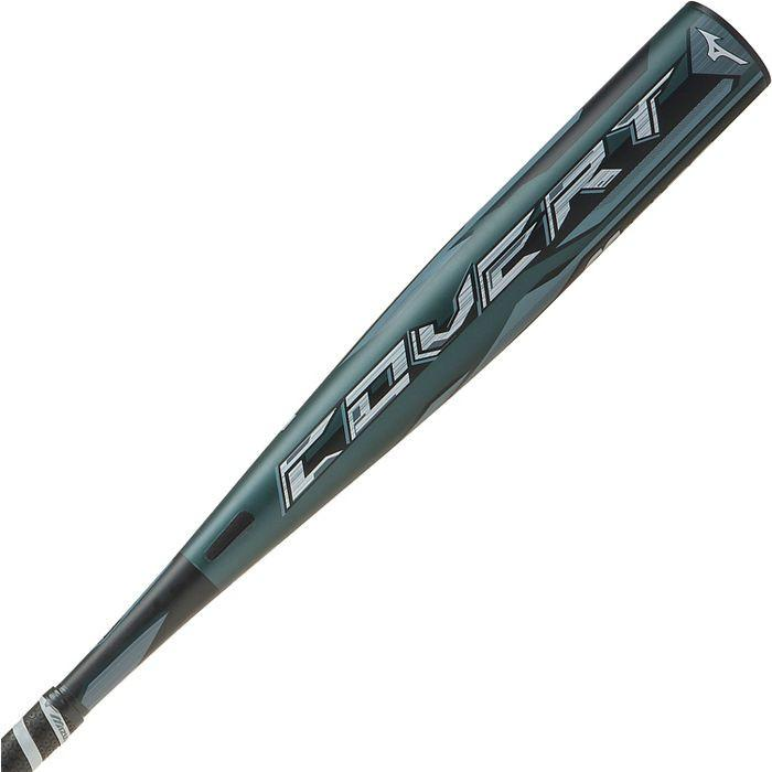 "New Mizuno Covert 340398 Senior League Baseball Bat 2 5/8"" Black/Grey"