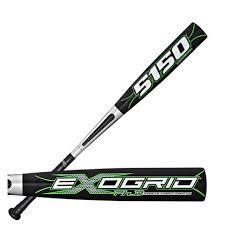 New Rawlings YB51XO ExoGrid 5150 Blk/Grn Little League Baseball Bat 2 1/4""