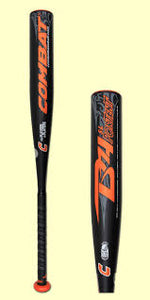 "New Combat B4 SL Portent B4SL110 Senior League Baseball Bat 2 5/8"" black"