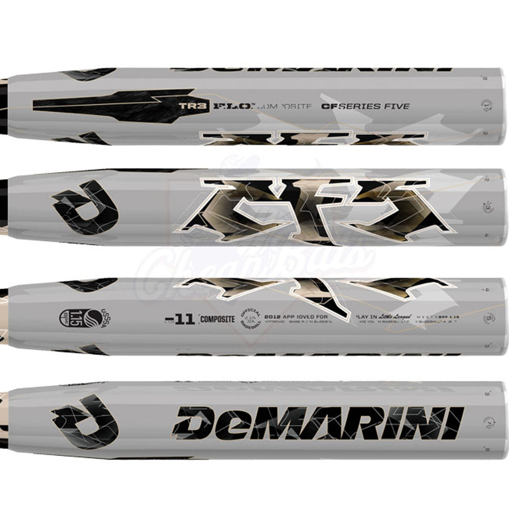 New DeMarini CF5 CFL13 Little League Baseball Bat Silver 2 1/4""