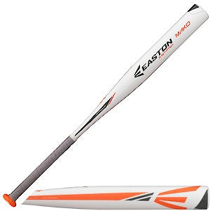 New Easton Mako FP15MKY Fastpitch Softball Bat White/Orange 2 1/4""