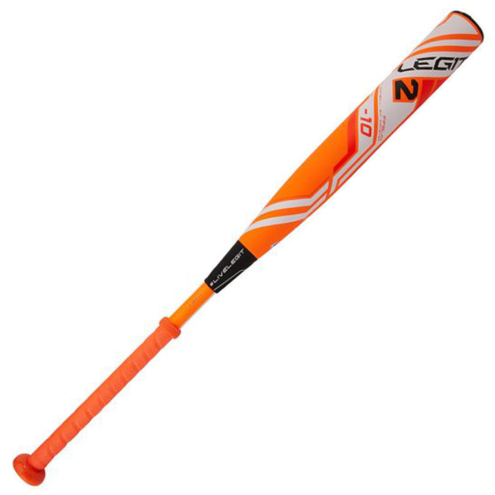 "New Worth 2 Legit FP2L10 Fastpitch Softball Bat Orange/White 2 1/4"" Barrel (-10)"