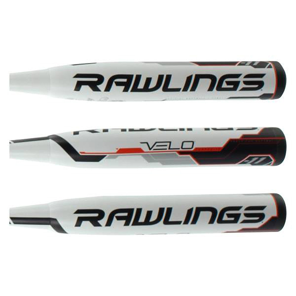 New Rawlings FP8V11 Velo White/Brown Fastpitch Softball Bat -11 Composite