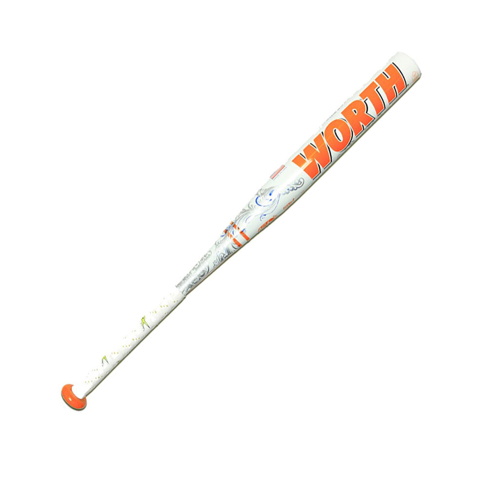 New Worth 454 Legit FPL410 Fastpitch Softball Bat White/Orange