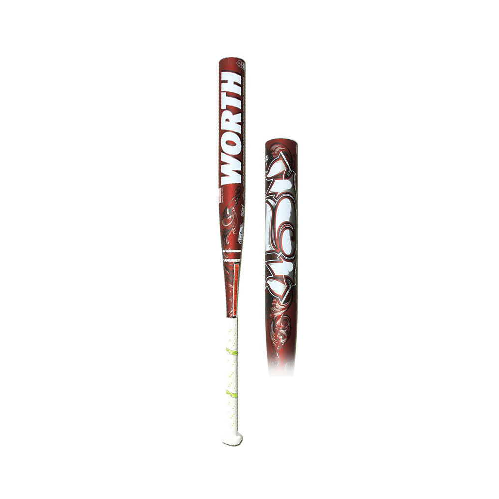 "New Worth 454 Legit FPL49 Fastpitch Softball Bat Brown/White 2 1/4"" USSSA Stamp"