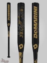 "New DeMarini Juggernaut J3 NTU-13 Slowpitch Softball Bat 2 1/4"" Black/Gold"