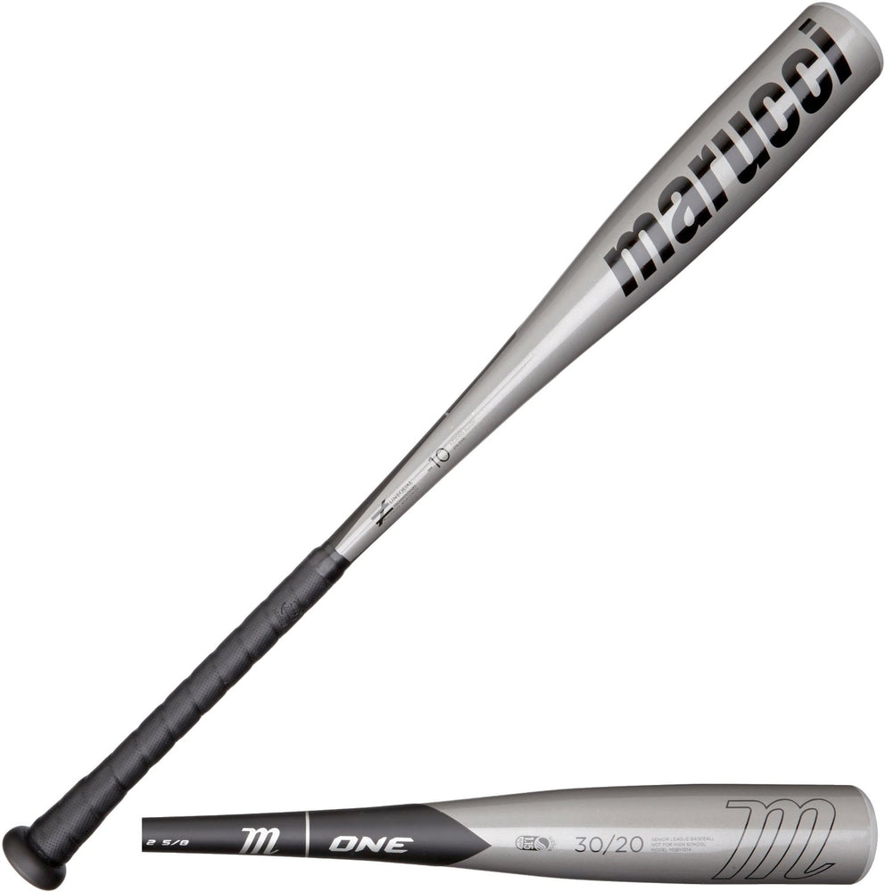 "New Marucci One MCB1 BBCOR Baseball Bat 2 5/8"" Silver/Black 2014"