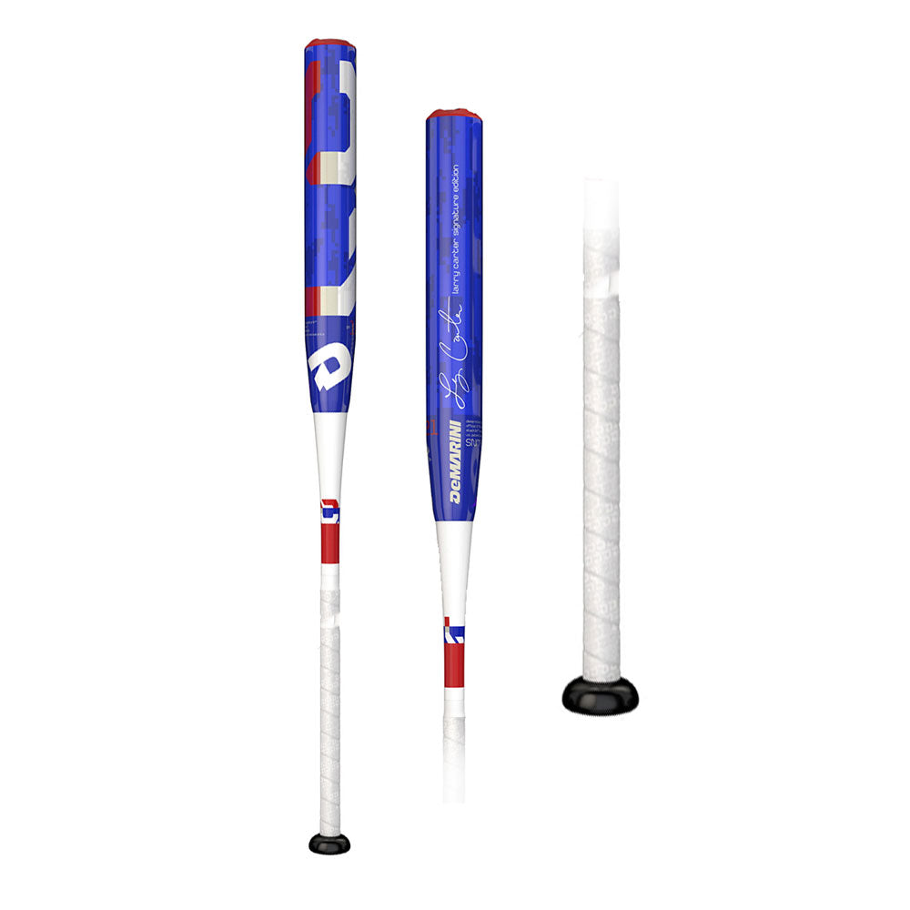 New DeMarini 2018 Larry Carter Senior Slowpitch Bat: WTDXSNM18 Blue/Red