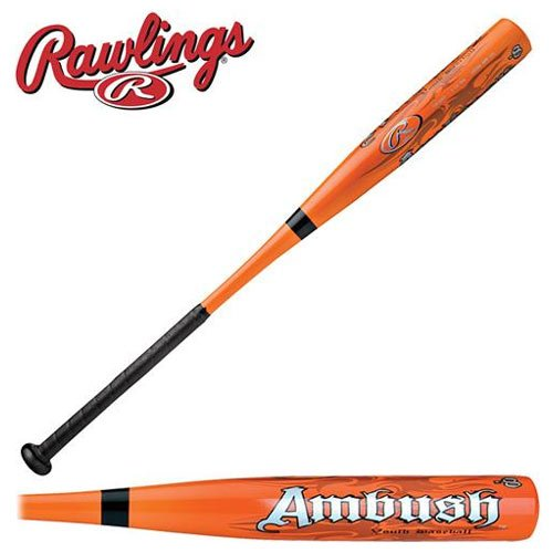 "New Rawlings YB1AM2 Ambush Little League Baseball Bat Orange 2 1/4"" Barrel"