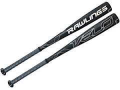 "New Rawlings Velo SLRVEL Senior League Baseball Bat 2 5/8"" Gray/Black"