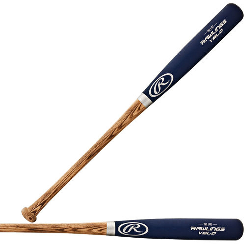 "New Rawlings Y62 Velo Lite Youth 29"" Wood Ash Bat Blue/Nat"