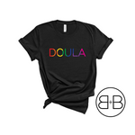Doula Rainbow Shirt - Birth and Babe Apparel