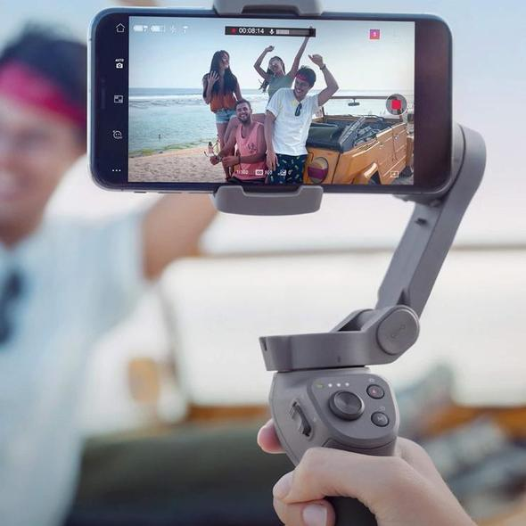 2019 Latest Upgraded Ergonomic Grip Foldable Smartphone Gimbal Stabilizer with Multiple Intelligent Controls