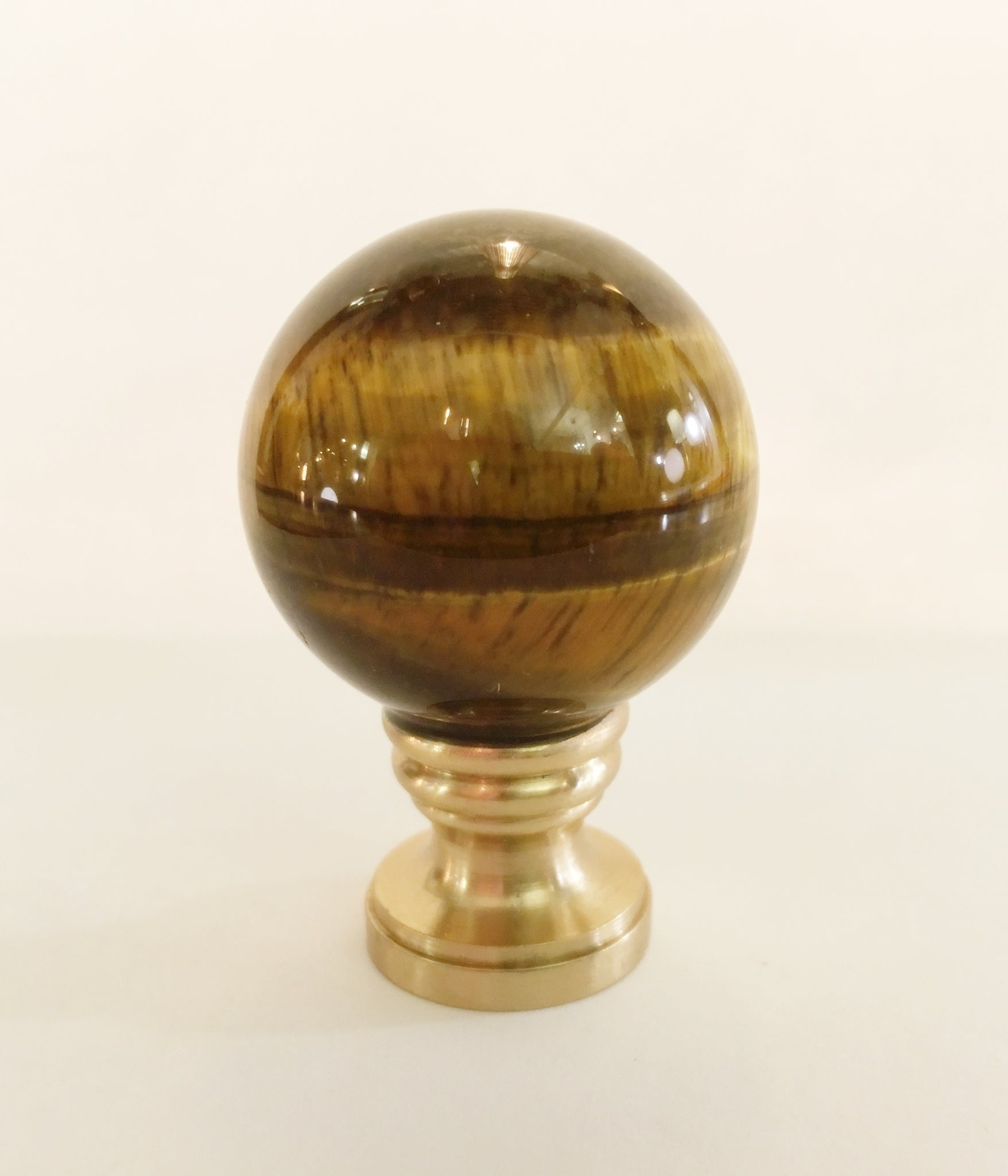 NEW GENUINE FOSSIL  STONE  SPHERE  ELECTRIC  LIGHTING  LAMP  SHADE  FINIAL