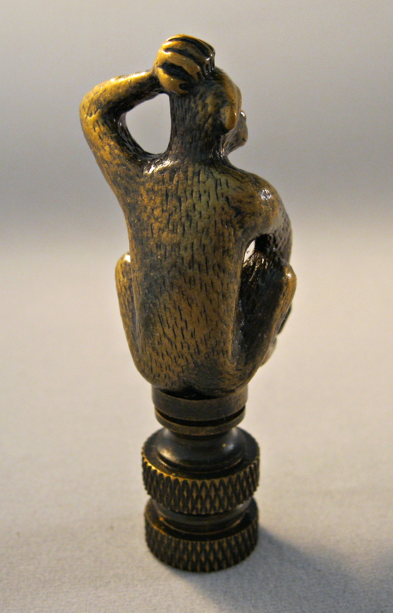 Lamp Finial-MONKEY-Aged Brass Finish Highly detailed metal casting