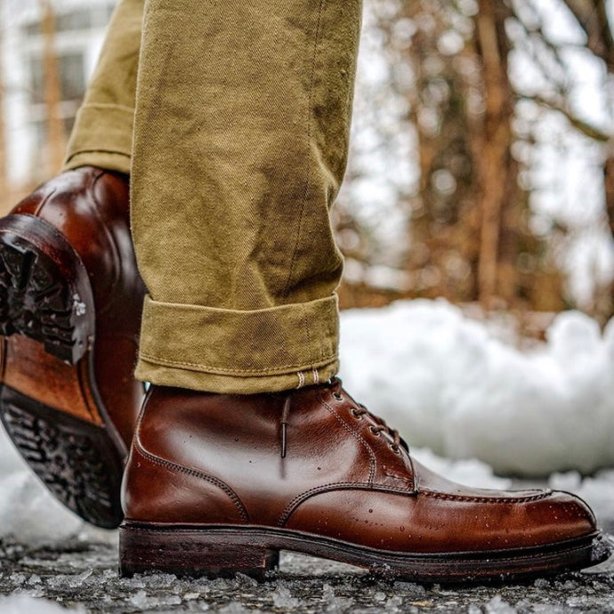 Carmina Shoemaker Model 80488 Boots in Chromexcel