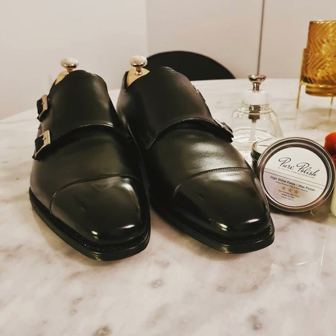 Joseph Cheaney Black Imperial Tudor Double Monkstraps