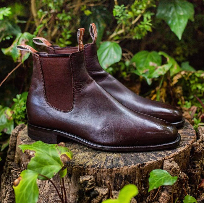 RM Williams Custom Brown Patina Chelsea Boots