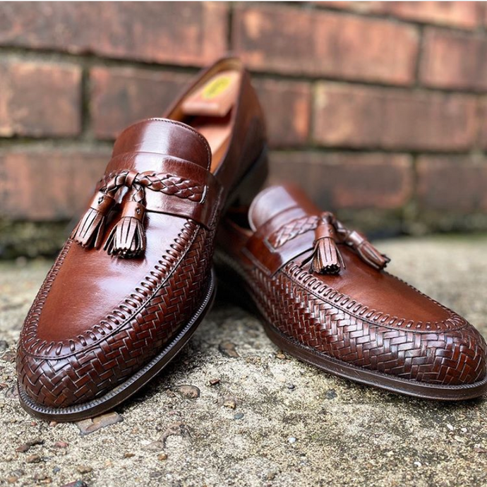Magnanni Tassel Loafers Restored with Cleaner Conditioner