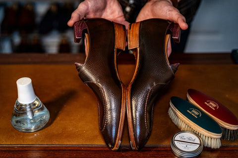 Showing off the depth of the conditioned shell cordovan