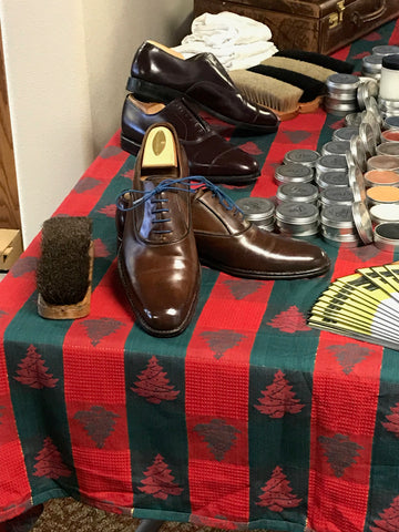 Mirror Shine Polish using Pure Polish High Shine Paste on a pair of Navyboot Calfskin Oxfords