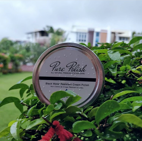 Pure Polish Water Resistant Cream Polish wet in rose bushes by Fumu Singapore