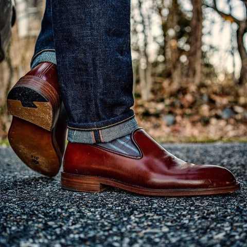 Zeb Shoemaker Color 4 Shell Cordovan Whole Cut Loafer