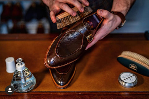 Acme Shoemaker Brown Shell Cordovan  Loafer, Monk-Strap Shoe