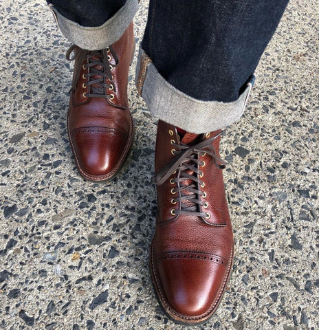 Alden Scotch Grain Jumper Boots Shined with Pure Polish