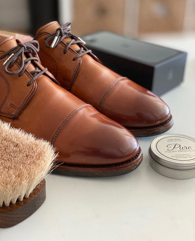 Allen Edmonds Cap-toe Derbies Mirror Shined by David Brown (@davesbrown)