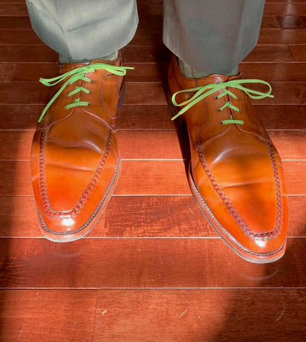 Allen Edmonds Charleston Derbies on Cherry Hardwood Floor by John Schmeelk