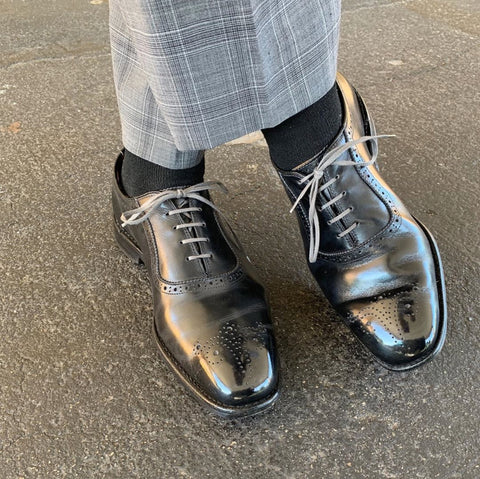 Allen Edmonds Black Cornwallis Mirror Shined by Levi Elliott (@leshoeguy)