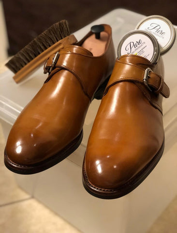 Allen Edmonds Custom Warwick Single Monkstrap Mirror Shined by Jeff Scholz