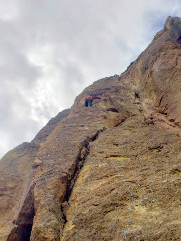 Andy climbing Smith Rock's Red Wall