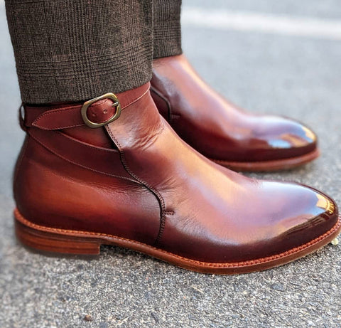 Beckettsimonon Brown Calfskin Jodhpur  Boot