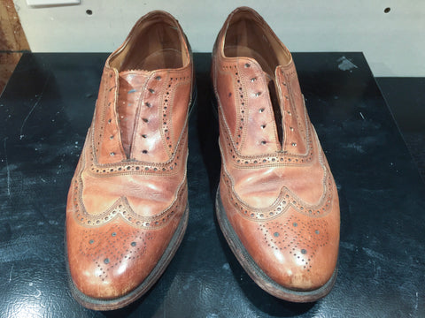 Before Picture of Vintage Florsheim Imperial Wingtips