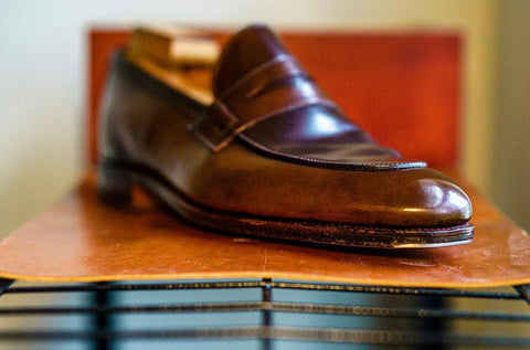 Carmina Shoemaker Brown Shell Cordovan Loafer Shoe