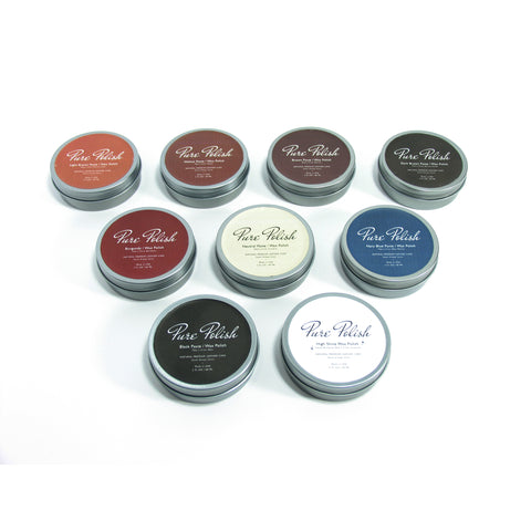 Paste Wax and High Shine Shoe Polish Collection by Pure Polish