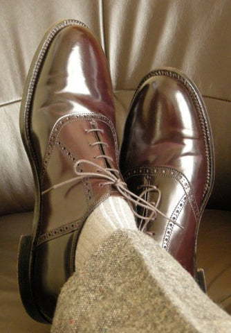 Cordovan Shell Oxfords
