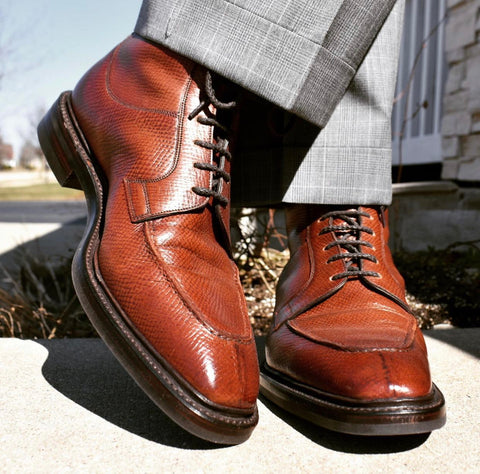 Gaziano and Girling Brown Calfskin Thorpe Derby, Split Toe Boot