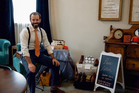 Andy Vaughn –Owner and Maker of Pure Polish Products at a live event